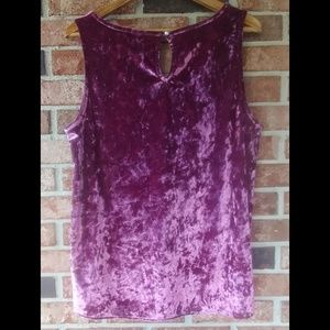 Cynthia Rowley Tops - 3/$20 Cynthia Rowley Velvet Berry Tank Top XL